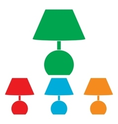 Lamp sign Colorfull set vector image