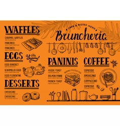 Menu restaurant food template vector