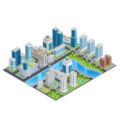 modern urban isometric landscape vector image