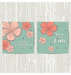 Postcard With Orange Flowers vector image