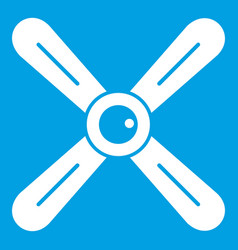 Propeller icon white vector