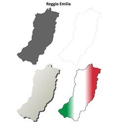 Reggio Emilia blank detailed outline map set vector image vector image