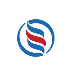 Round circle abstract logo vector