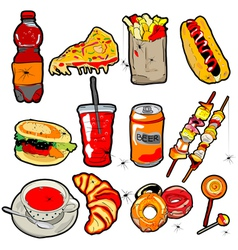 scarry fast food elements vector image