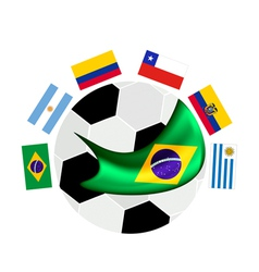 South america qualification in a brazil 2014 vector