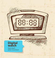 Vintage digital watch vector image vector image
