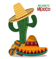 Viva mexico celebration party poster vector