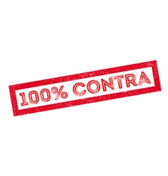 100 percent contra rubber stamp vector image vector image