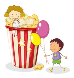 Popcorn Kids Background vector image