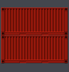 Painted metal red iron wagons containers vector