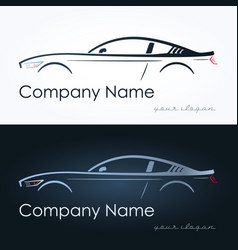 Abstract sport coupe car vector