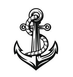 Black nautical anchor vector
