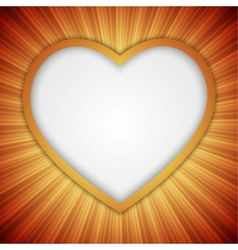 Background with heart-shape vector image