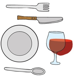 Dishwares vector