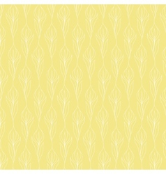 White flower pattern on placid yellow background vector