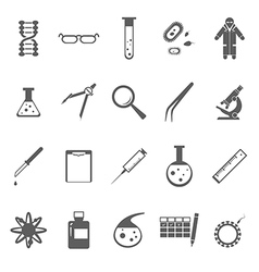 Genetic icons gray vector