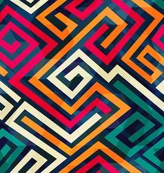 retro spiral seamless pattern vector image