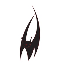 Bat isolated vector