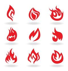 Fire symbols vector