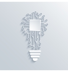 Concept light bulb with circuit board vector