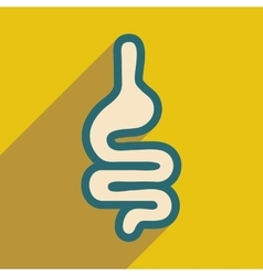 Icon of human intestines in flat style vector