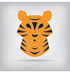 Stylized silhouette of a tiger vector