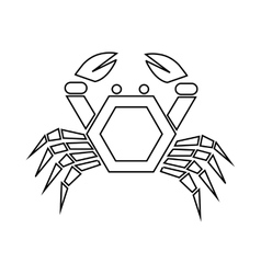 Crab icon outline style vector