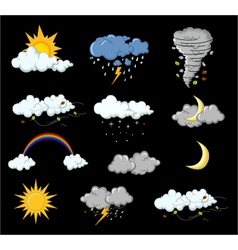 Weather collection for you design vector