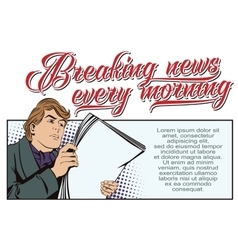 A man reading the morning newspaper vector