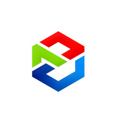 Abstract polygon colored business company logo vector