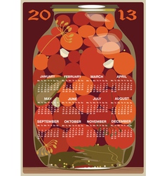 calendar 2013 tomatoes vector image