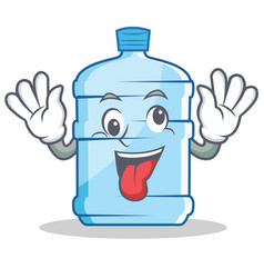 Crazy gallon character cartoon style vector