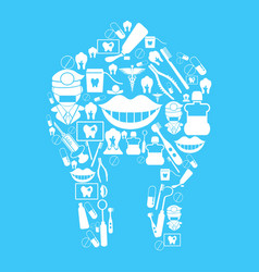 dental background vector image vector image