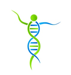 DNA person Logo vector image