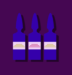 Flat icon design collection medical ampoule in vector