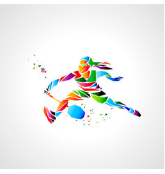 Girl badminton player abstract eps vector