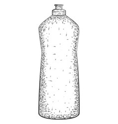 Hand drawn bottle vector