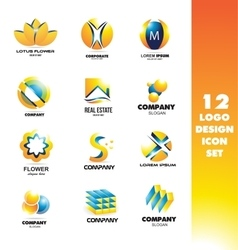 Logo icon design elements set vector image
