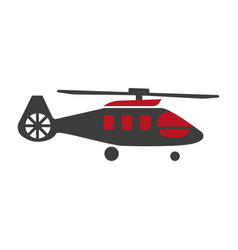 Military rescue helicopter icon image vector