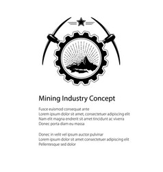 mining industry emblem and text vector image