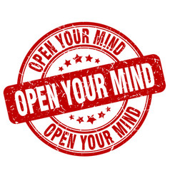 Open your mind stamp vector