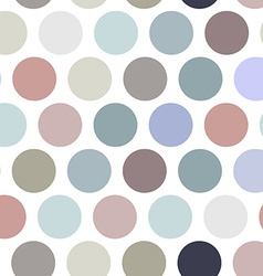 Polka dot background seamless pattern Pastel color vector image