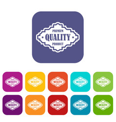 Premium quality product label icons set vector