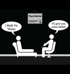 Psychiatrist moses vector