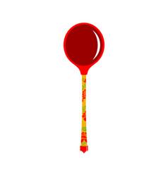Russian wooden spoon folk cutlery russia vector