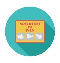 Scratch card vector