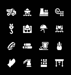 Set icons of metallurgy vector