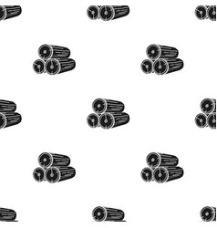 Stack of logs icon in black style isolated on vector