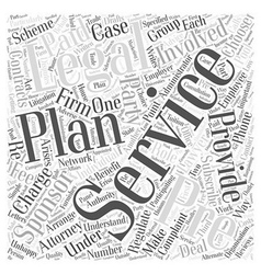 Who is involved in Legal services Word Cloud vector image vector image