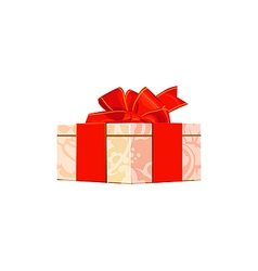 gift box over white background vector image